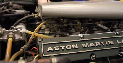 Aston Martin engine close-up